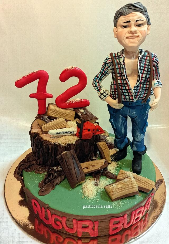 Grandfather cake topper