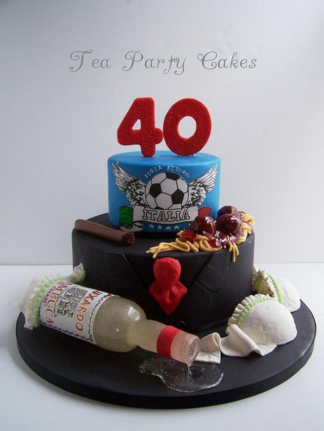 Fine Bachelors 40Th Birthday Cake Cake By Tea Party Cakes Cakesdecor Funny Birthday Cards Online Aeocydamsfinfo
