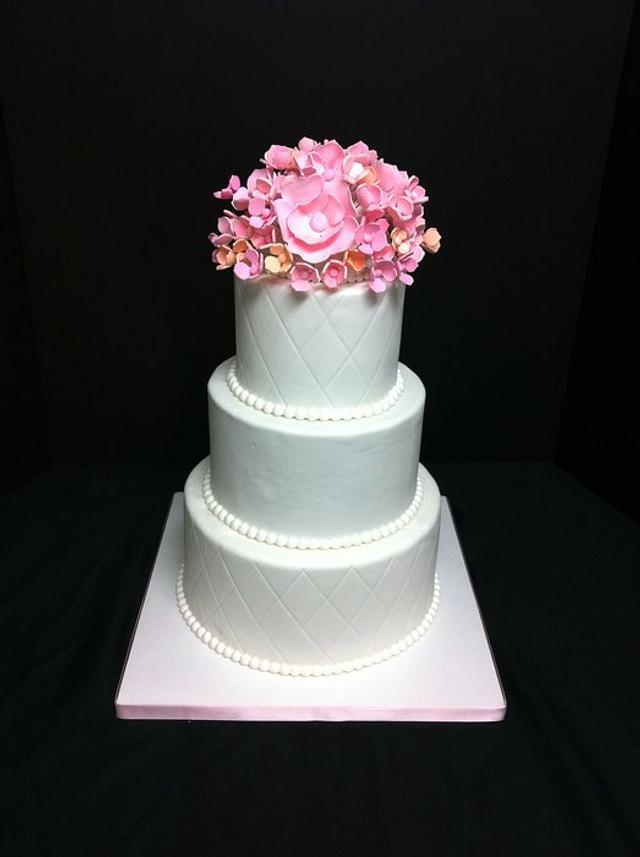 Pink & Peach Wedding Cake :)