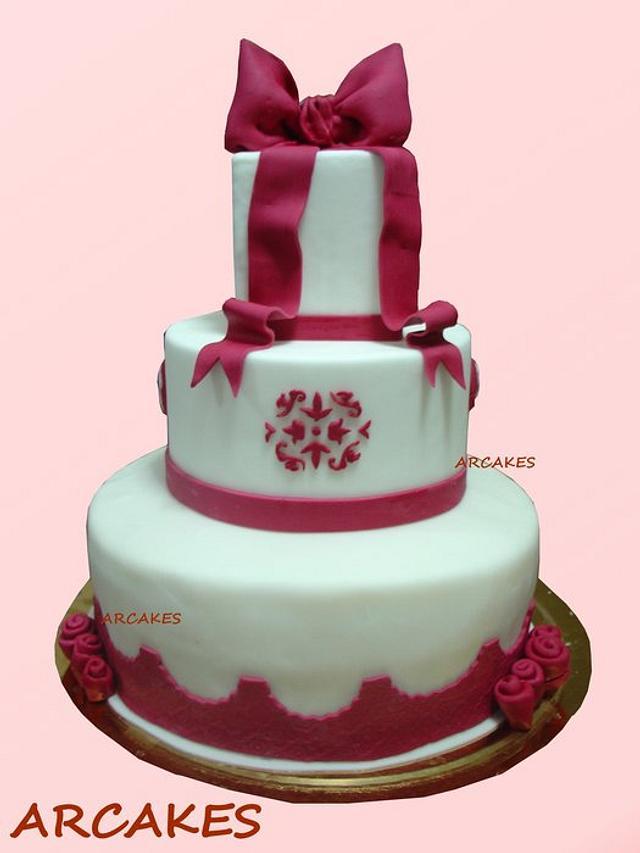 Fabulous 18 Birthday Cake Cake By Cristina Cakesdecor Funny Birthday Cards Online Alyptdamsfinfo