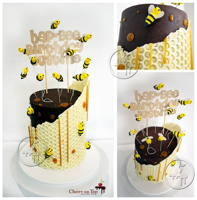 Awesome Hap Bee Birthday Cake By Cherry On Top Cakes And Cakesdecor Funny Birthday Cards Online Alyptdamsfinfo