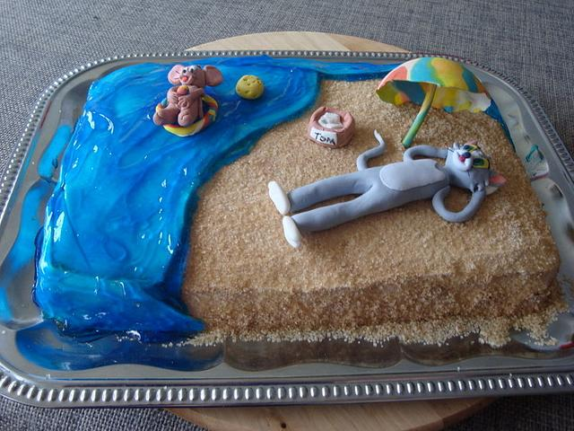 Tom and Jerry beach cake for my 7yr old son :)