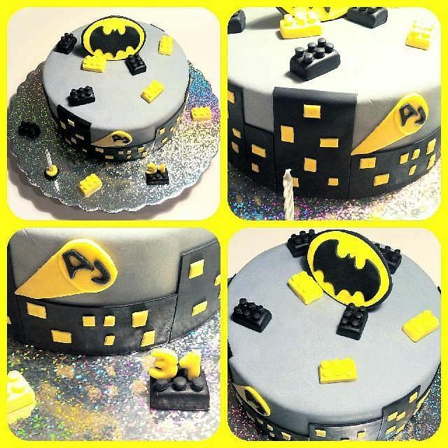 Excellent Lego Batman Cake By Easy Partys Cakesdecor Personalised Birthday Cards Akebfashionlily Jamesorg