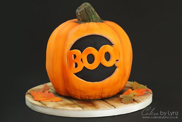 Halloween Pumpkin Cake Decorating Tutorial