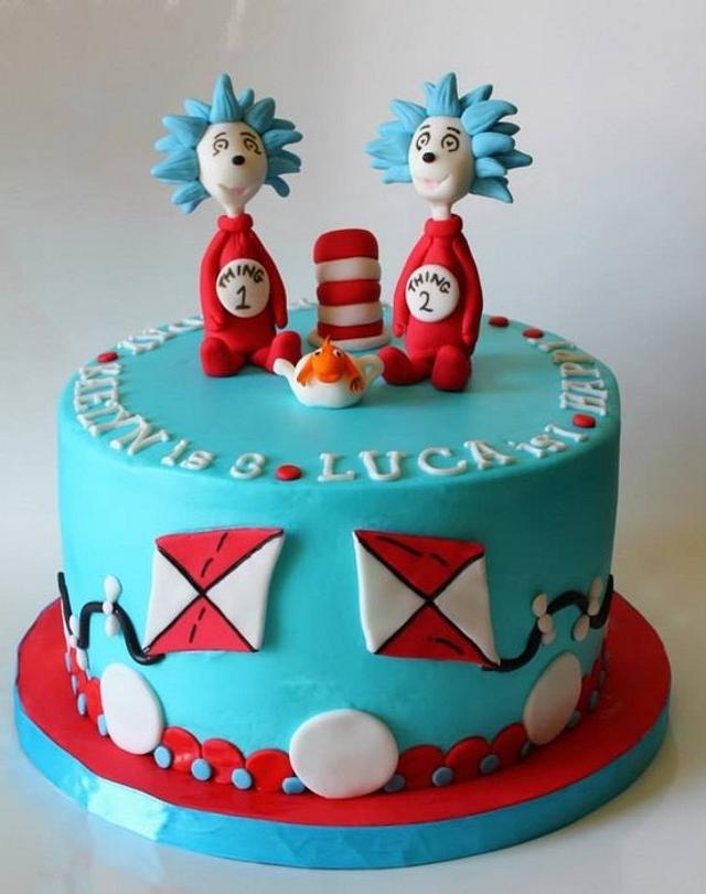 Thing 1 & Thing 2 Cake