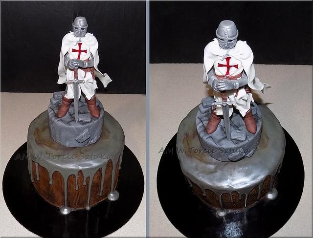 Temple knight drip cake