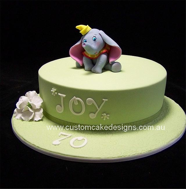 Surprising Dumbo 70Th Birthday Cake Cake By Custom Cake Designs Cakesdecor Funny Birthday Cards Online Fluifree Goldxyz