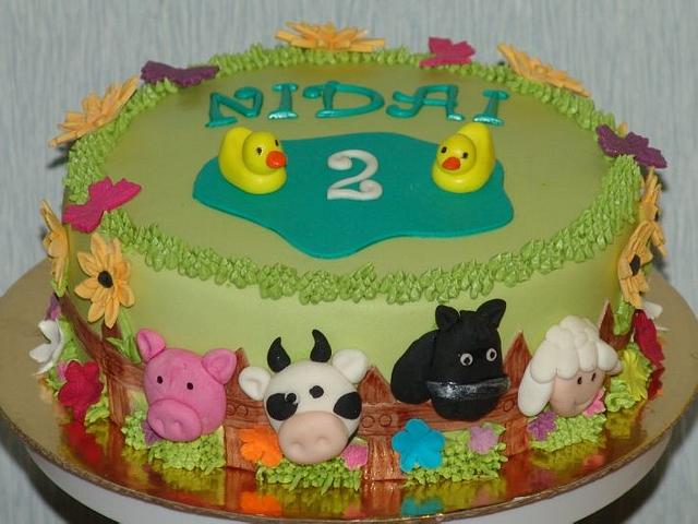 Pleasing Farm Themed Birthday Cake Cake By Zaneta Cakesdecor Funny Birthday Cards Online Sheoxdamsfinfo