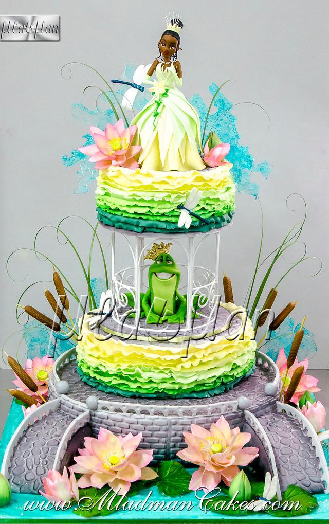 Princess and the frog Theme Cake