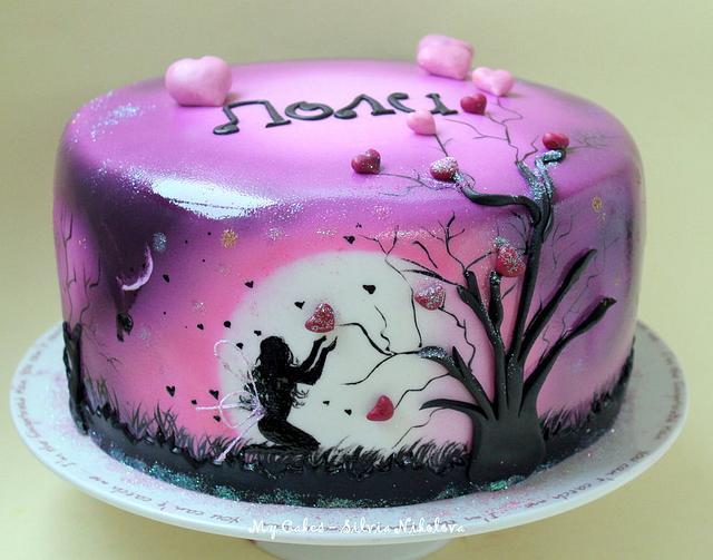 Night Love Angel Cake