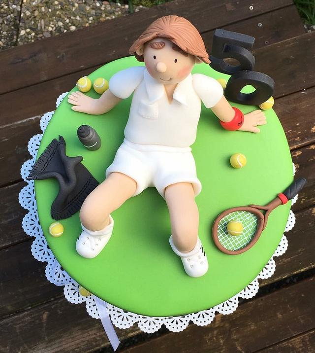 Miraculous Tennis Birthday Cake Cake By Agnes Linsen Cakesdecor Personalised Birthday Cards Veneteletsinfo