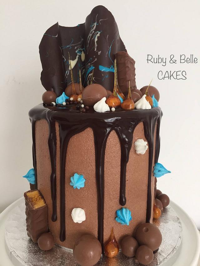 Chocolate & hazelnut drip cake