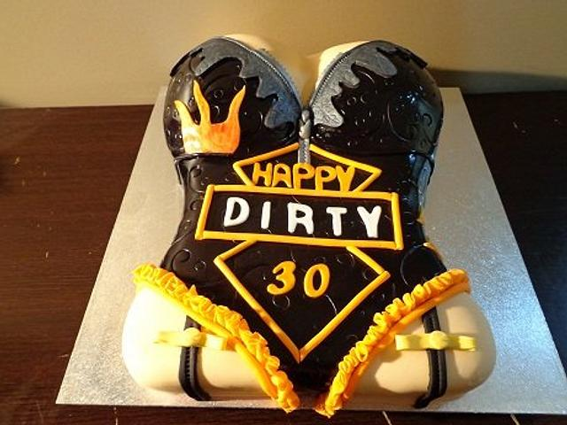 Miraculous Dirty 30 Cake By Liors Cake Designs Cakesdecor Personalised Birthday Cards Petedlily Jamesorg