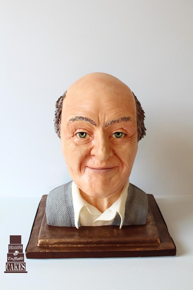 Roald Dahl edible sculpted bust