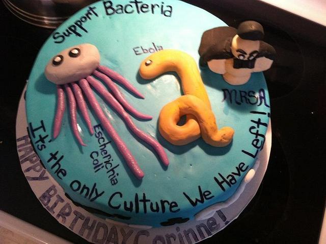 Microbiology Birthday Cake