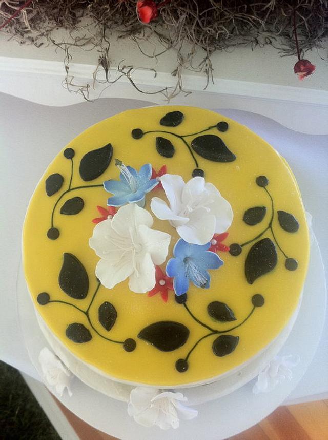 Mini Wedding Cake - Spanish Inspired