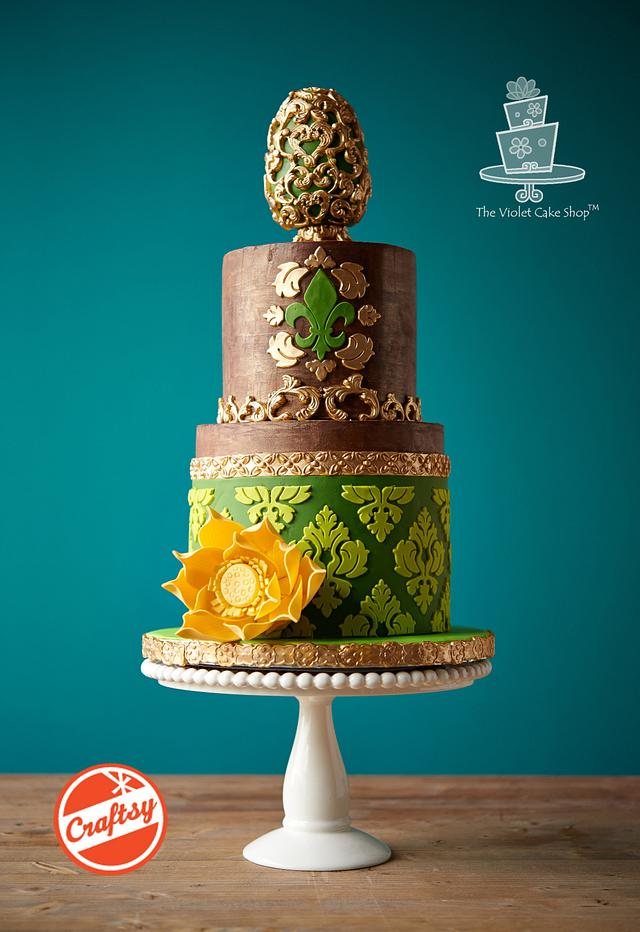 RUSTIC ELEGANCE Cake - MOLDS and ONLAYS