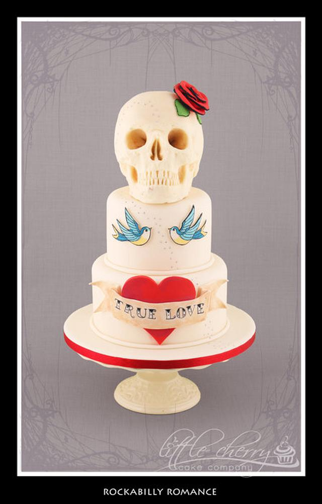 Rockabilly Romance - Tattoo Cake