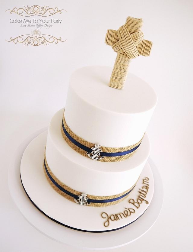 Nautical Baptism Cake (for little boy)
