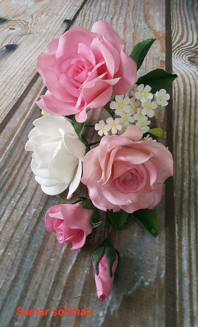 Sugar roses spray