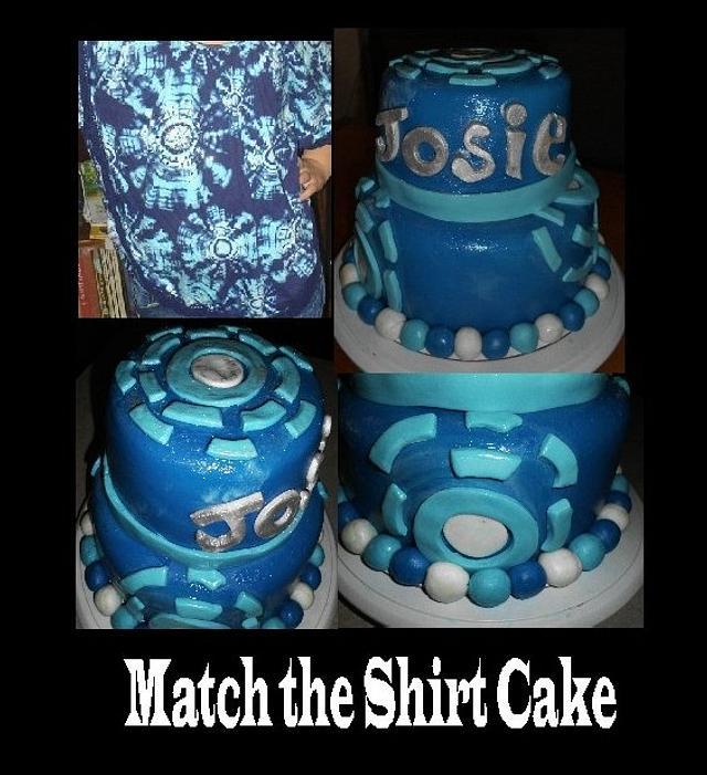 Match The Shirt Cake