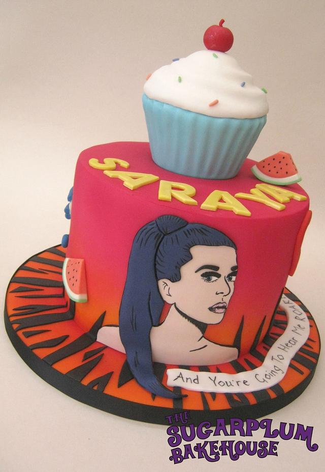 Astounding Katy Perry Themed Birthday Cake Cake By Sam Harrison Cakesdecor Personalised Birthday Cards Veneteletsinfo