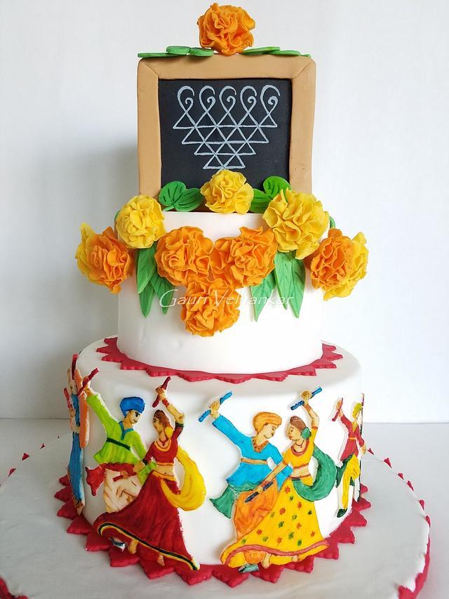 Navaratri Theme Cake - Navaratri Cake Collaboration