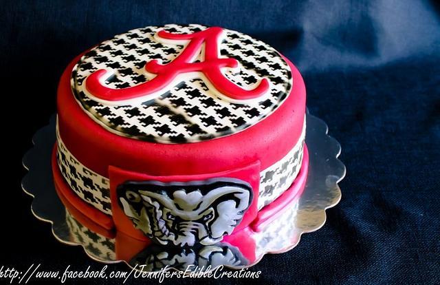 Amazing Alabama Crimson Tide Birthday Cake Cake By Jennifers Cakesdecor Personalised Birthday Cards Veneteletsinfo