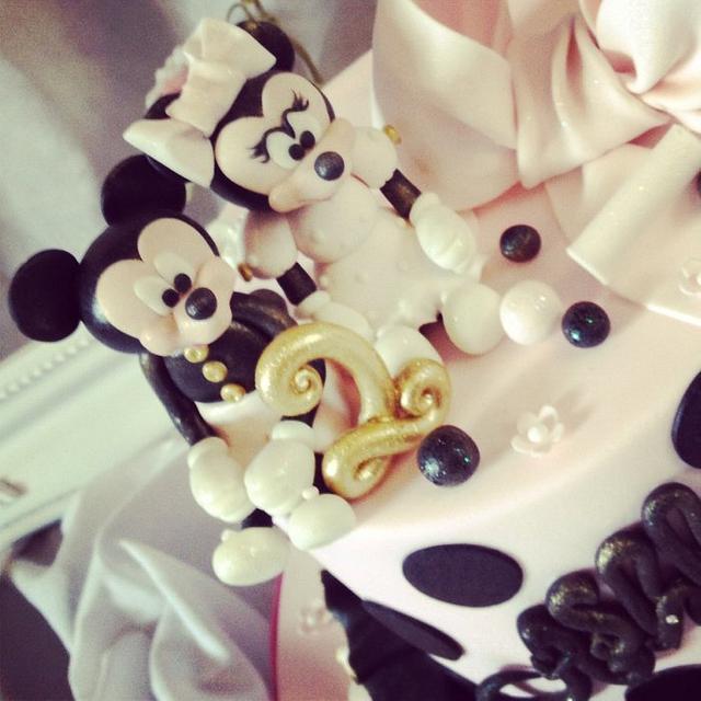 Terrific Minnie And Mickey Birthday Cake Cake By Dee Cakesdecor Personalised Birthday Cards Vishlily Jamesorg