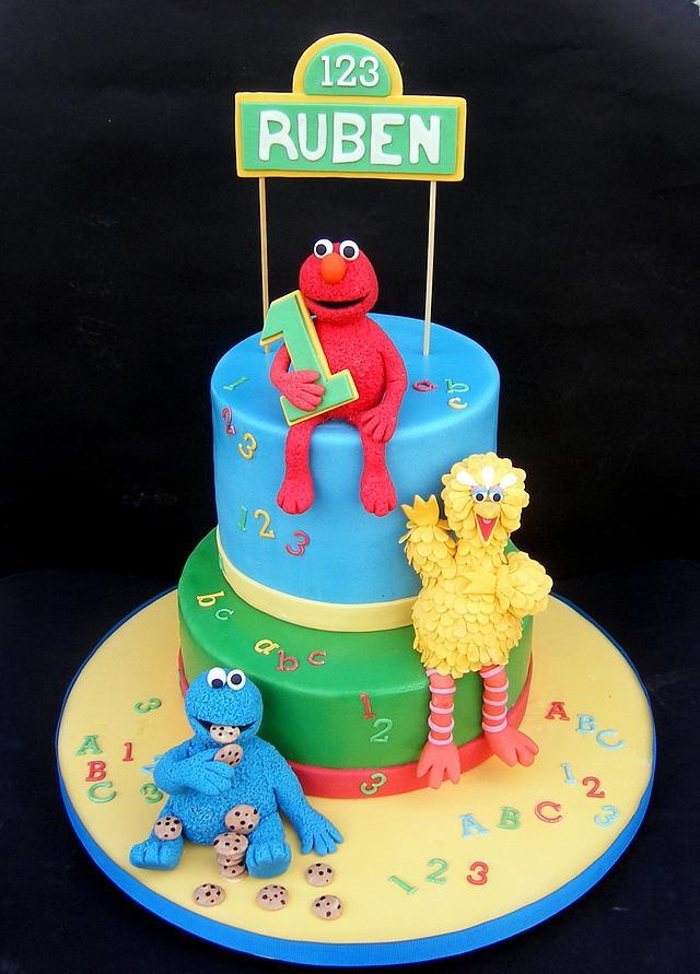 Terrific Sesame Street 1St Birthday Cake Cake By Karen Geraghty Cakesdecor Funny Birthday Cards Online Alyptdamsfinfo