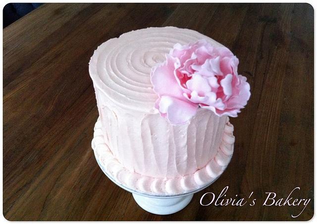 Peony Buttercream Cake