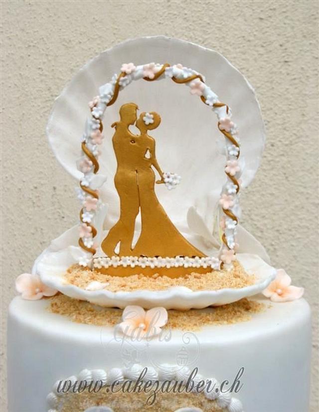 Beach Wedding Cak