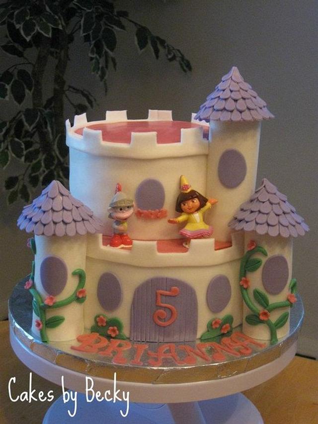 Dora the Explorer Castle Cake