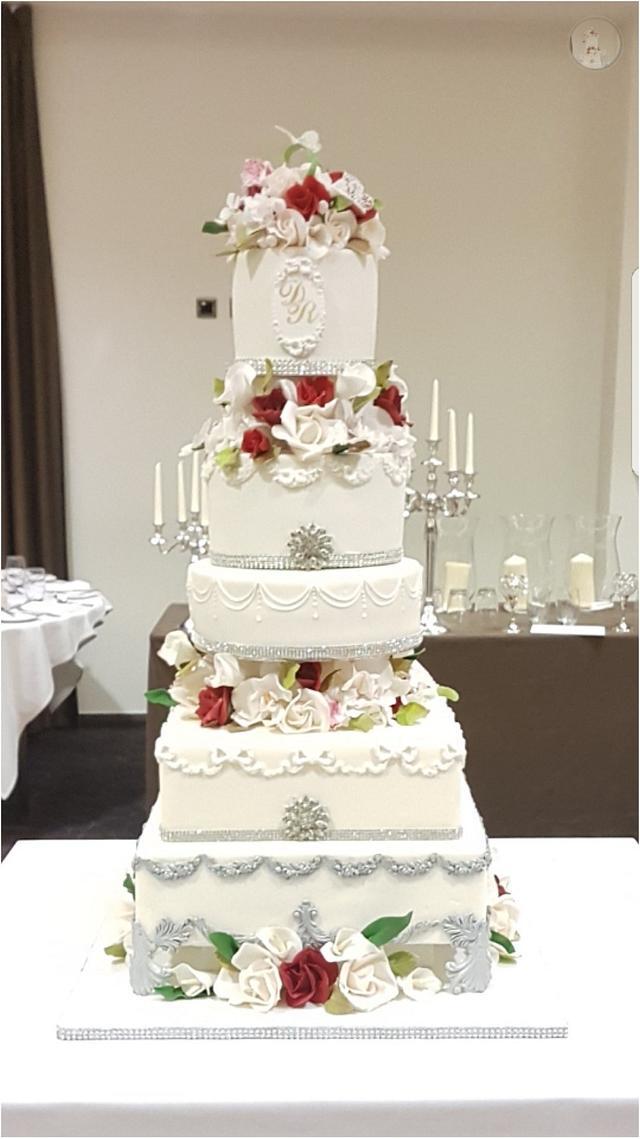 Danny & Rhian's Romantic Cake
