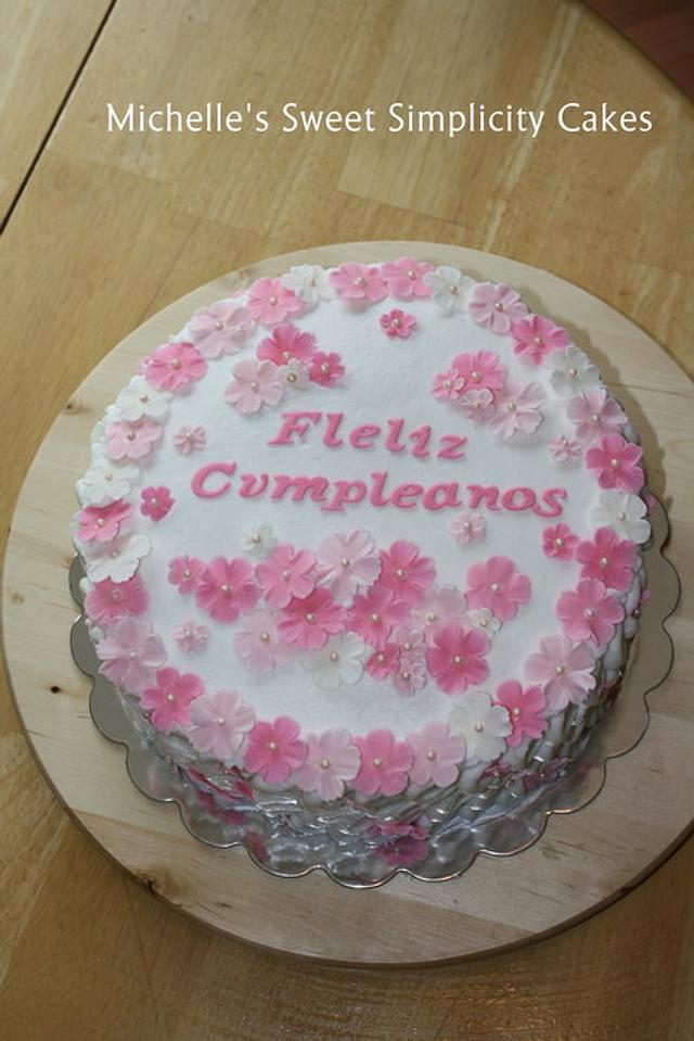 Prime Spanish Happy Birthday Cake Cake By Michelle Cakesdecor Funny Birthday Cards Online Inifodamsfinfo