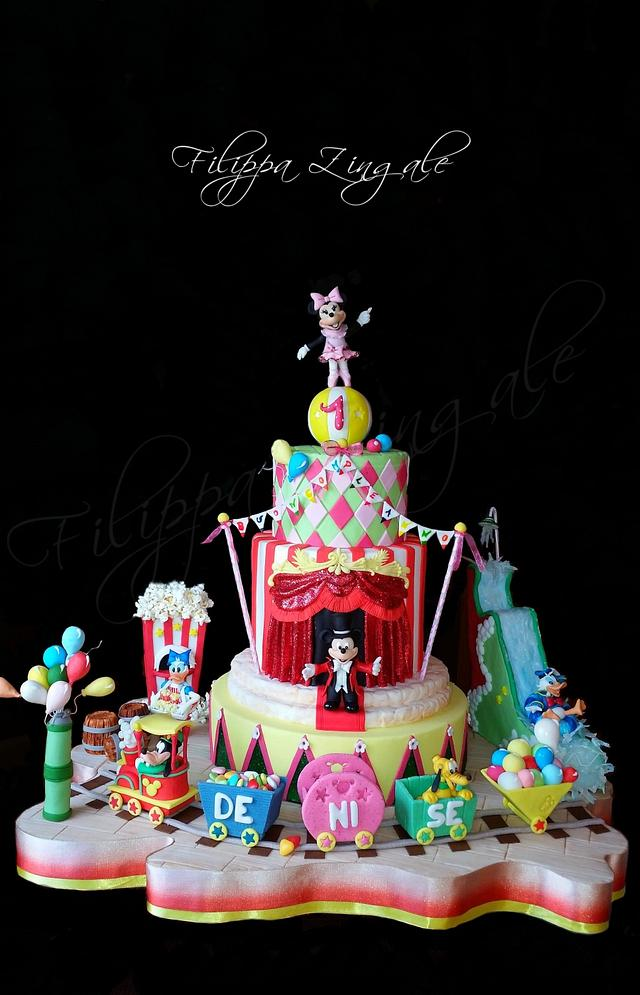 Disney circus cake