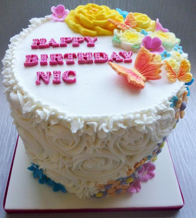 Magnificent A Spring Birthday Cake Cake By Amazing Grace Cakes Cakesdecor Funny Birthday Cards Online Elaedamsfinfo