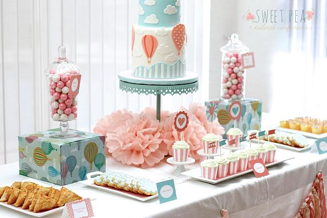 Hot Air Balloon Themed Baby Shower