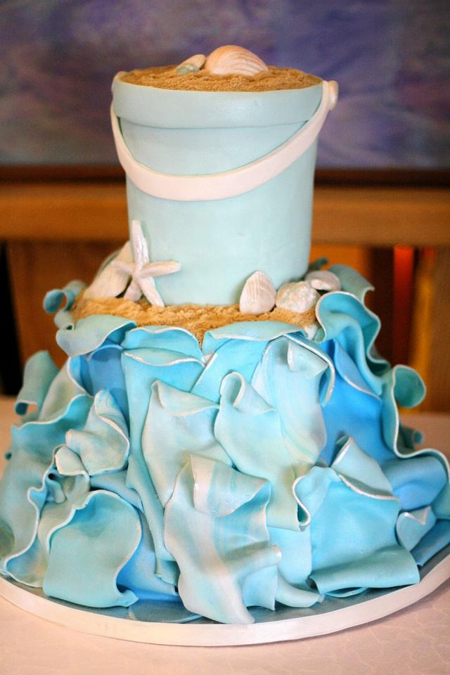 3D Wave wedding cake