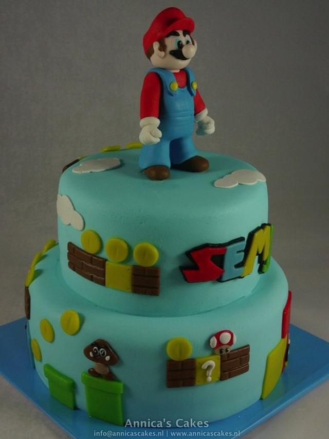 Groovy Super Mario Birthday Cake Cake By Annica Cakesdecor Personalised Birthday Cards Veneteletsinfo