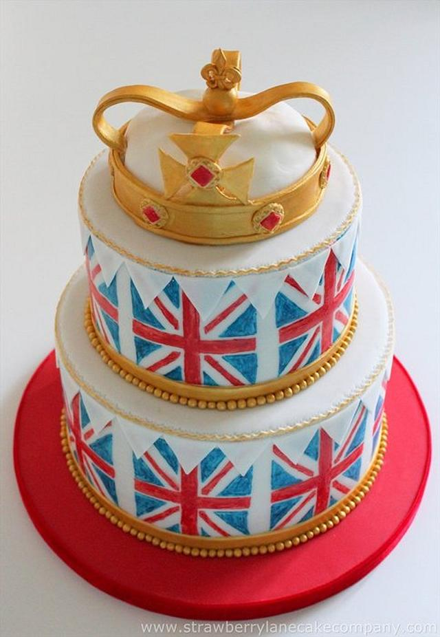 Union Jack Themed Cake for the Ideal Home Show