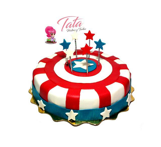 Torta Capitán América