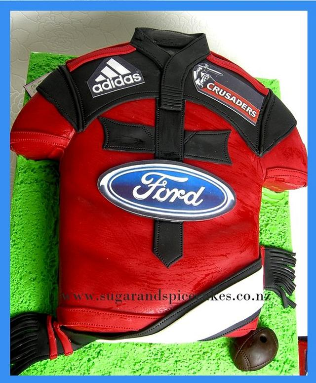 Crusaders' Rugby Jersey Cake
