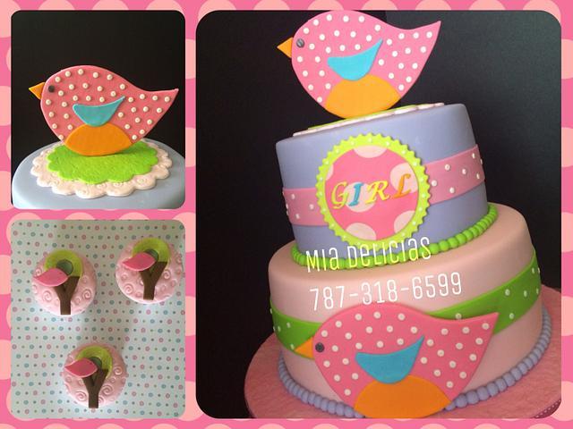 Bird Cake / Baby Shower