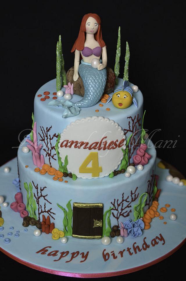 'Arial the mermaid' birthday cake