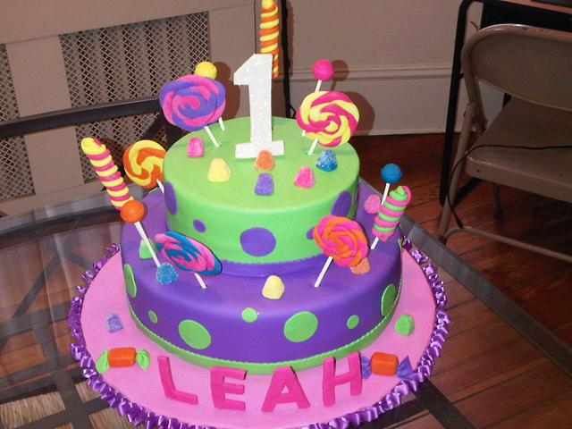 Candy land theme cake