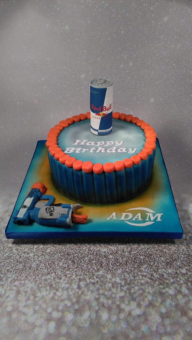 Pleasing Nerf Gun Birthday Cake Cake By Julie Johnson Cakesdecor Personalised Birthday Cards Veneteletsinfo