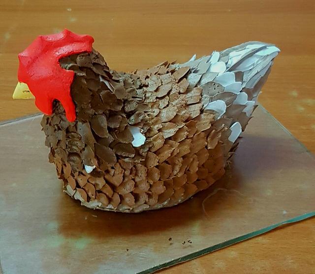 3D Whipped Cream Hen