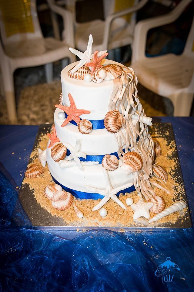 Anniversary Sea themed Cake