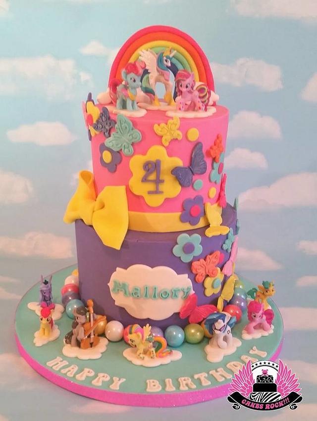 Fabulous My Little Pony Birthday Cake Cake By Cakes Rock Cakesdecor Personalised Birthday Cards Arneslily Jamesorg